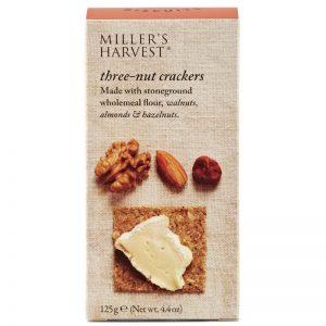 Crackers 3 Nozes Millers Harvest Artisan Biscuits 125g
