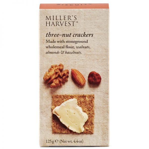 Artisan Biscuits Millers Harvest Three-nut Crackers 125g