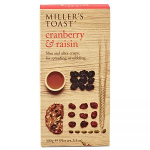 Artisan Biscuits Millers Toast with Cranberry & Raisin 100g