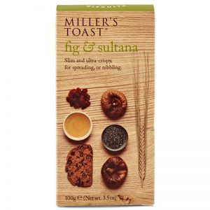 Artisan Biscuits Millers Toast with Fig and Sultana 100g