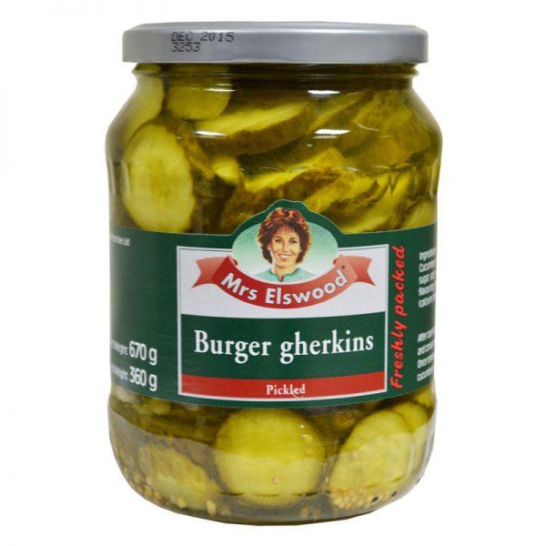 Mrs Elswood Mrs Elswood Burger Gherkins 670g