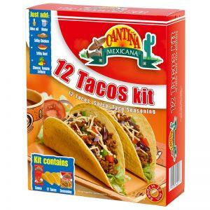 Kit para Tacos (12un) Cantina Mexicana 325g
