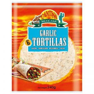 Cantina Mexicana 6 Garlic Tortillas 240g