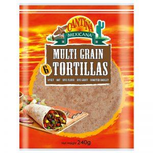 Cantina Mexicana 6 Multi Grain Tortillas 240g