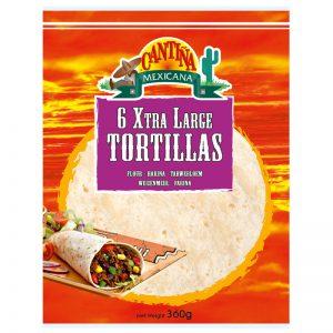Cantina Mexicana 6 Xtra Large Tortillas 360g
