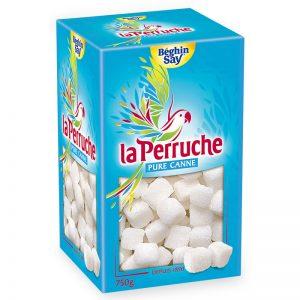 Açúcar de Cana Branco em Cubos Irregulares La Perruche 750g