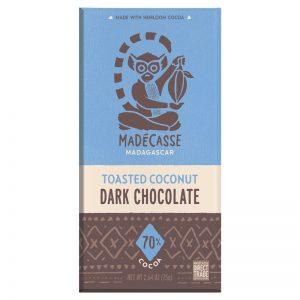 Chocolate Preto com Coco Torrado 70% Madécasse 75g