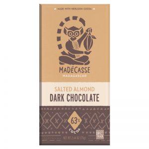Chocolate Preto Amêndoa Salgada 63% Madécasse 75g