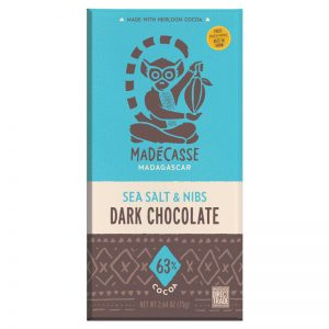 Chocolate Preto com Sal Marinho e Pepitas de Cacau 63% Madécasse 75g