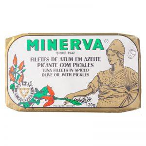 Atum em Azeite Picante com Pickles Minerva 120g