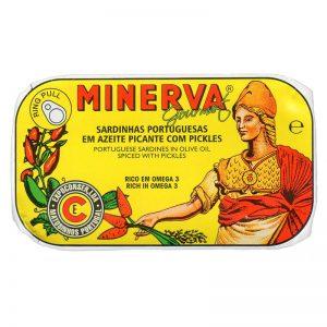 Sardinhas em Azeite Picante com Picles Minerva 120g