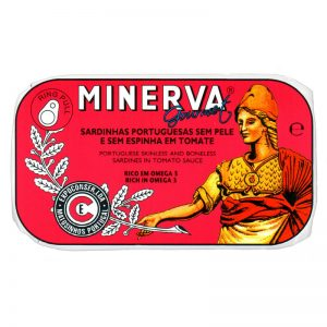 Minerva Sardines in Tomato Without Skin and Bones 120g