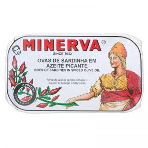 Ovas de Sardinha em Azeite Picante Minerva 120g