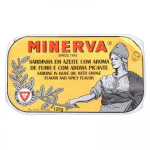 Minerva Smoked Sardines in Hot Olive Oil 120g