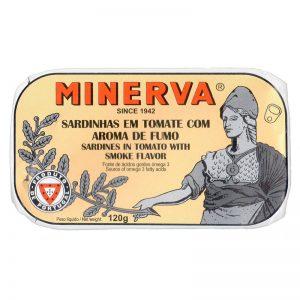 Sardinhas Fumadas em Tomate Minerva 120g