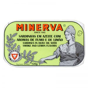 Minerva Smoked Sardines in Olive Oil with Lemon 120g