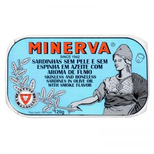 Sardinhas Fumadas Sem Pele e Sem Espinhas Minerva 120g