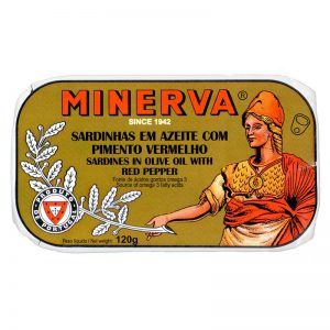Sardinhas em Azeite com Pimento Vermelho Minerva 120g