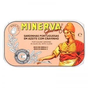 Sardinhas em Azeite com Cravinho Minerva 120g