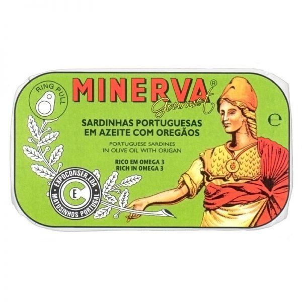 Sardinhas em Azeite com Orégãos Minerva 120g