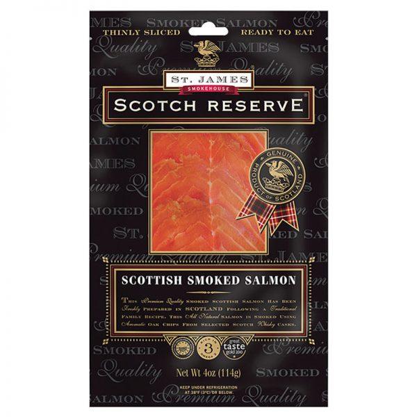 Salmão Fumado Escocês Fatiado Original Scotch Reserve St. James Smokehouse 100g