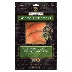 St. James Smokehouse Gravadlax Scottish Smoked Salmon Scotch Reserve 100g