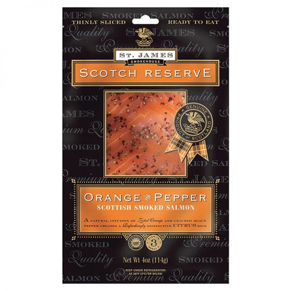 St. James Smokehouse Orange and Pepper Scottish Smoked Salmon Scotch Reserve 100g