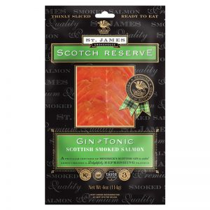 St. James Smokehouse Gin Tonic Scottish Smoked Salmon Scotch Reserve 100g