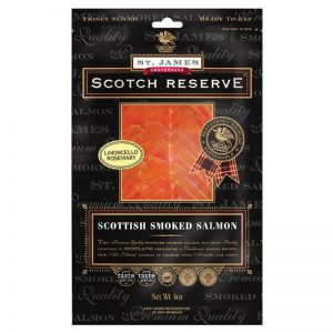 St. James Smokehouse Limoncello and Rosemary Scottish Smoked Salmon Scotch Reserve 100g