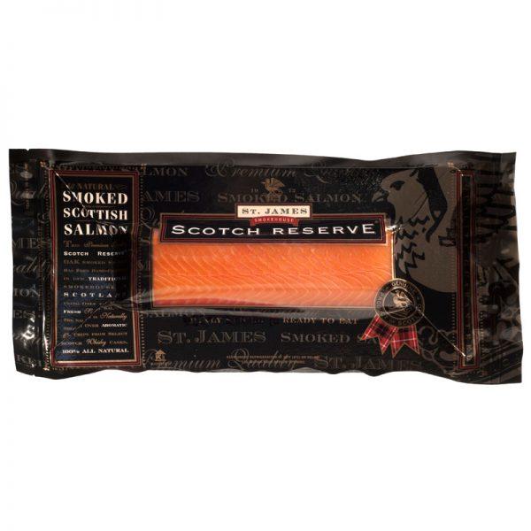 """St. James Smokehouse """"BALIK"""" Scottish Smoked Salmon Scotch Reserve 240g"""