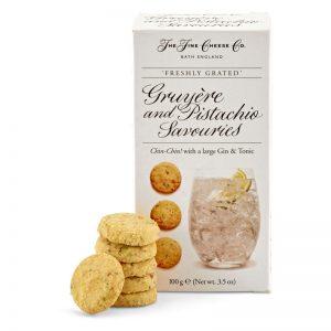 Biscoitos de Queijo Gruyere e Pistacios The Fine Cheese Co. 100g