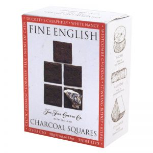 The Fine Cheese Co. Fine English Charcoal Squares 125g