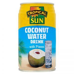 Água de Coco com Pedaços em Lata Tropical Sun 330ml