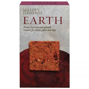 Artisan Biscuits Millers Elements Earth Crackers - Potato Beetroot and Spinach 100g