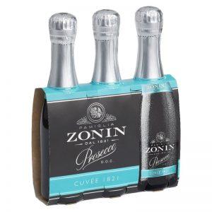 Zonin Prosecco D.O.C. Brut Cuvée 1821 Tris-Pack 200ml