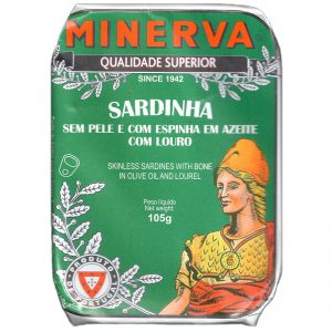 Minerva Sardines withous Skin with Bay Leaves. 105g