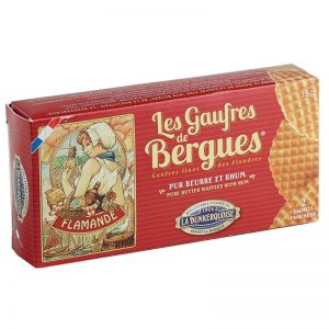 La Dunkerquoise Pure Butter Waffles with Rum 80g