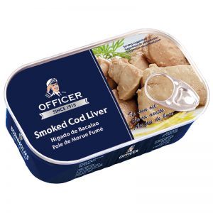 Officer Smoked Cod Liver in Own Oil 120g