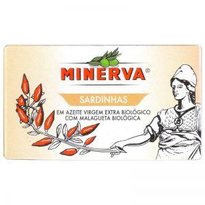 Sardinhas em Azeite Virgem Extra Biológico Picante Minerva 120g