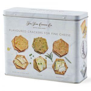 Conjunto de Crackers Aromatizadas para Queijo em Lata The Fine Cheese Co. 375g