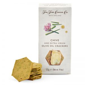 The Fine Cheese Co. Chive and Extra Virgin Olive Oil Crackers 125g