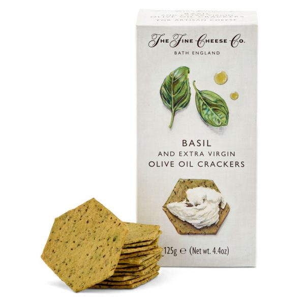 The Fine Cheese Co. Basil and Extra Virgin Olive Oil Crackers 125g