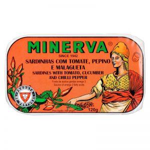 Minerva Sardines in Hot Tomato with Cucumber 120g