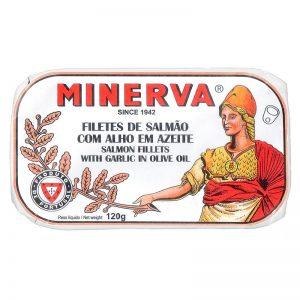 Filetes Salmão com Alho em Azeite Minerva 120g
