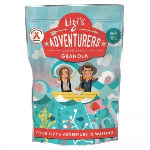 Lizis Adventures Strawberry Granola 400g