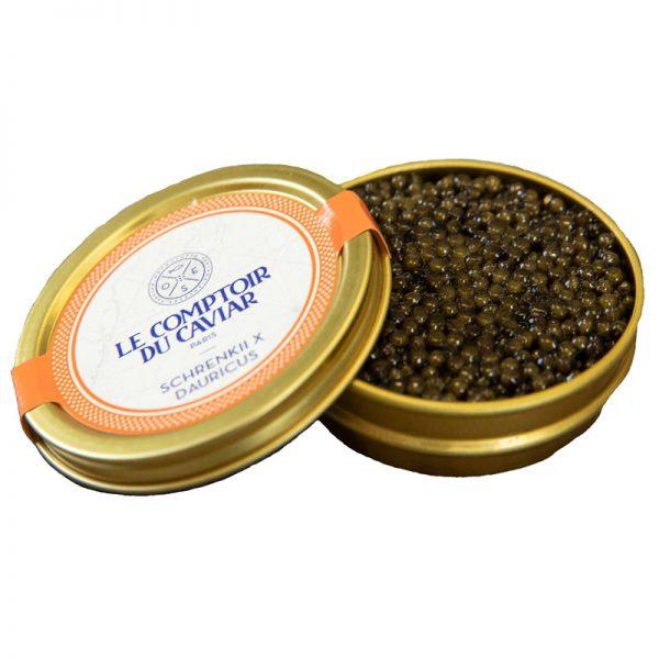 Caviar Seleção Acipenser Schrenkii e Huso Dauricus Le Comptoir Du Caviar 50g