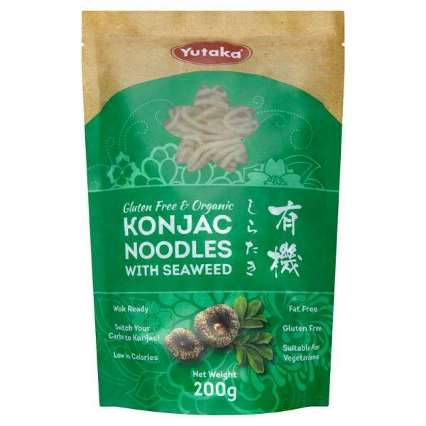Noodles Konjac com Algas Marinhas Biológicos Yutaka 200g