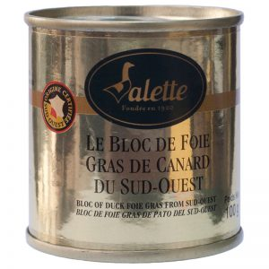 Foie Gras em Bloco Pato IGP Sudoeste Valette 100g