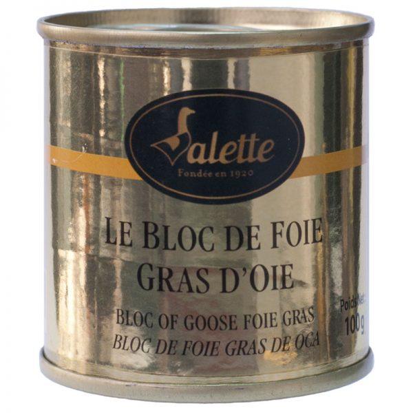 Bloco de Foie Gras de Ganso Valette 100g
