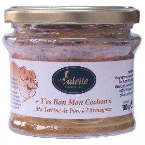 """Paté Porco Armagnac """"Bon Mon Cochon"""" Valette 180g"""